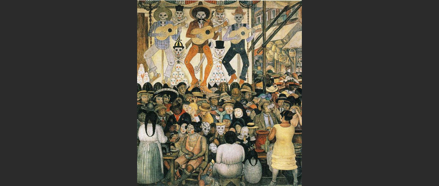 Mexican Day of The Dead - Diego Rivera Mural